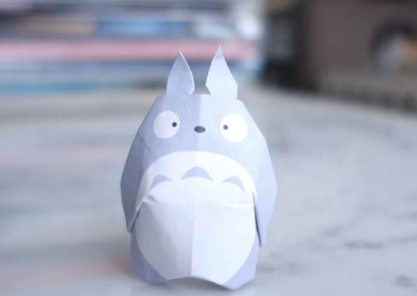 自己做完後能招喚出本尊嗎? 原來一張正方型紙,就能摺出童年偶像「龍貓」!