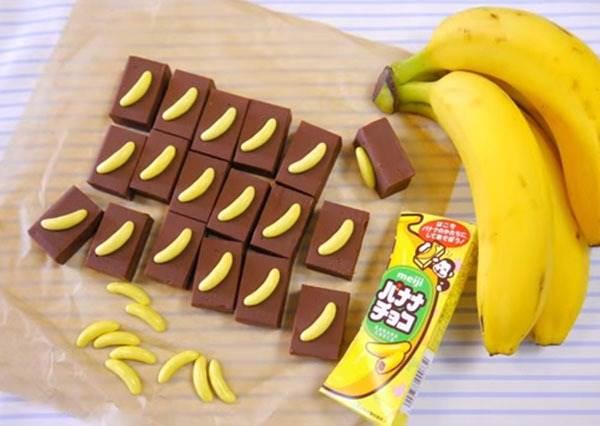 現在連做個巧克力都要追求與眾不同,那你一定要試試看外表可愛味道成熟的「香蕉巧克力」!