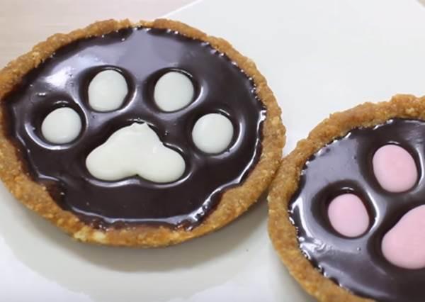 吃零食也可以童話風!夢幻「腳印巧克力塔」免烤箱簡單自製法美味公開