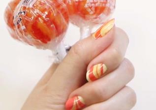 懶人指彩超簡單!Lollipop Nail Art!