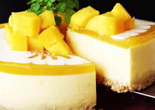 酸V啊酸V最開胃!DIY免烤箱《芒果起司蛋糕》時,加入這個小小動作,內餡美味就會UP好幾階!