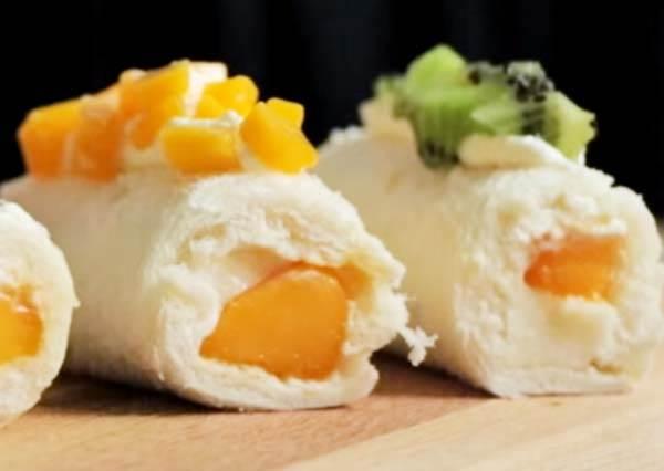 團購美食 芒果奶凍捲!Mango Custard Cake
