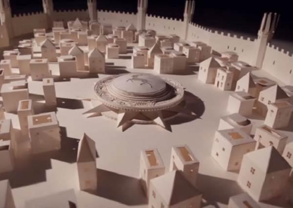 用筆記本紙張做出城堡已經夠狂了,當齒輪開始轉動後,驚人畫面在真的要出現!?