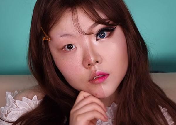 當這個韓國女生示範完教學開始卸妝後,所有人都一秒理解什麼叫做「整型級彩妝」!?