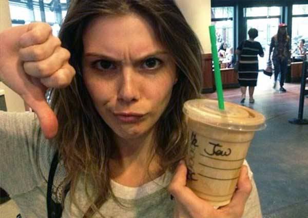 星巴克店員另類的示愛方式:把你的名字寫錯你才會記得我的好!
