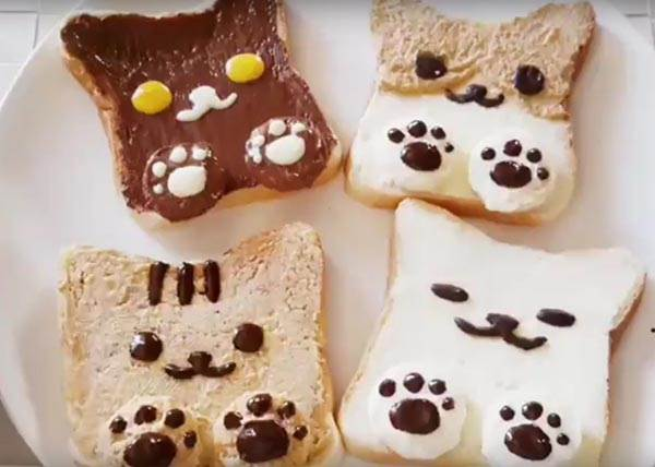 超可愛貓臉土司怎麼做? 達人大方透露:原來只要橡皮筋就搞定!