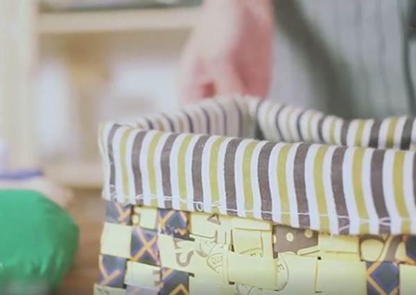紙袋→收納籃? 堆積的購物袋1招讓它們重生!