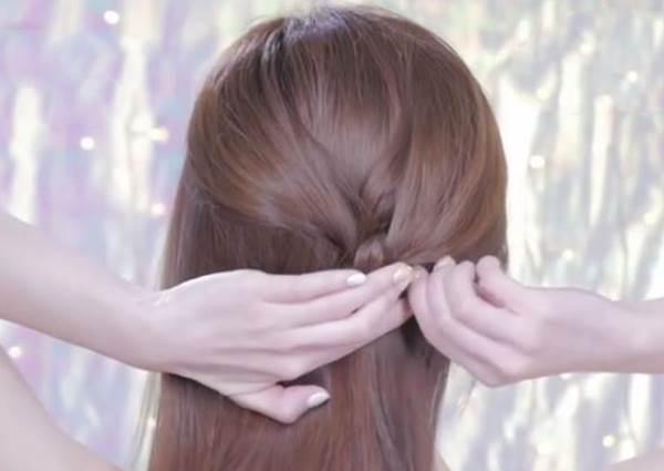 簡單的Girly Hair!心型公主頭這樣綁