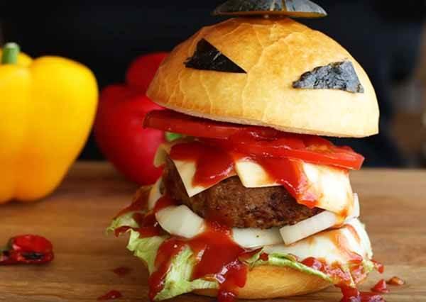 萬聖節怪物漢堡 Halloween Monster Burger