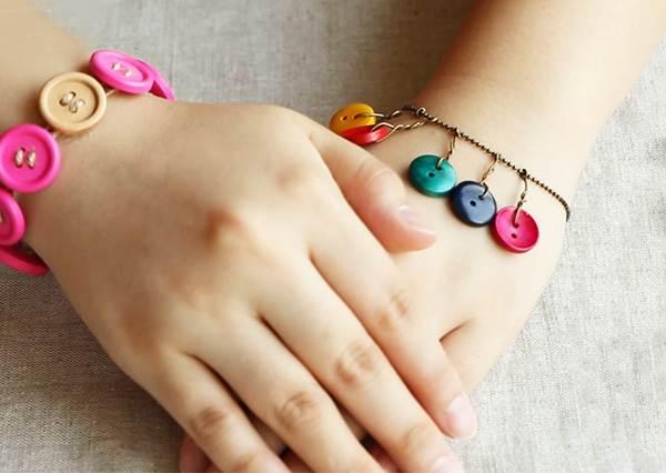 鈕扣手鍊 DIY Button Bracelet