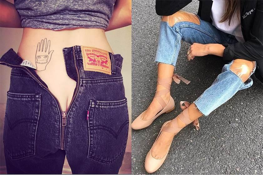 天價牛仔褲居然在後面開拉鏈?這些牛仔褲到底是前衛還是時尚災難?