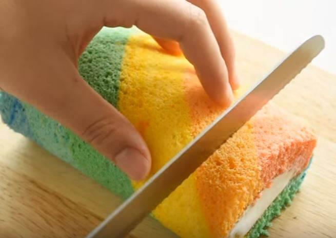 療癒系彩虹少女甜點 瑞士捲不膩口秘密傳授