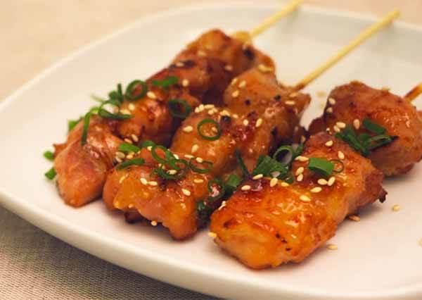 味噌碳烤雞肉串 Miso chicken skewers