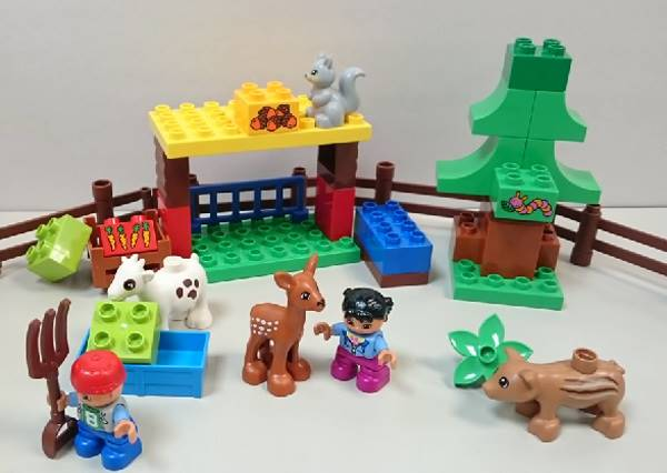 積木人了沒 讓我們一起進入樂高世界裡的森林動物吧!