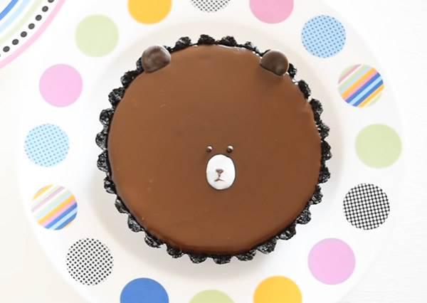 在家自己做出可愛熊大 免烤OREO巧克力塔