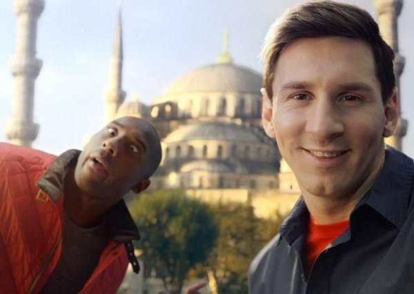 影音/Kobe V.S.梅西 不尬球反而比自拍技術?