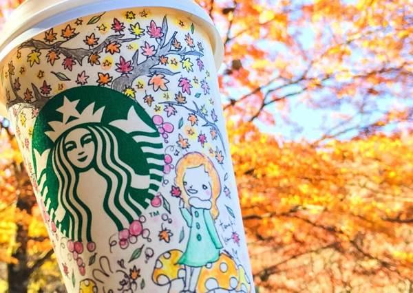 連白雪公主都畫給你!絕對不留白的超可愛「手繪咖啡杯」,跪求星巴克採用吧!