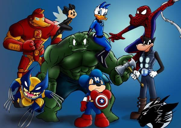 高飛,別以為戴頭套扮蜘蛛人我們就認不出來!迪士尼成員變身英雄,少女都想被唐老鴨拯救啊!