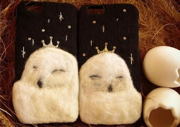 【日本這組羊毛氈動物手機殼系列太美麗 ! 】天冷衣服要換季, 手機殼當然也要跟著換季啊!!