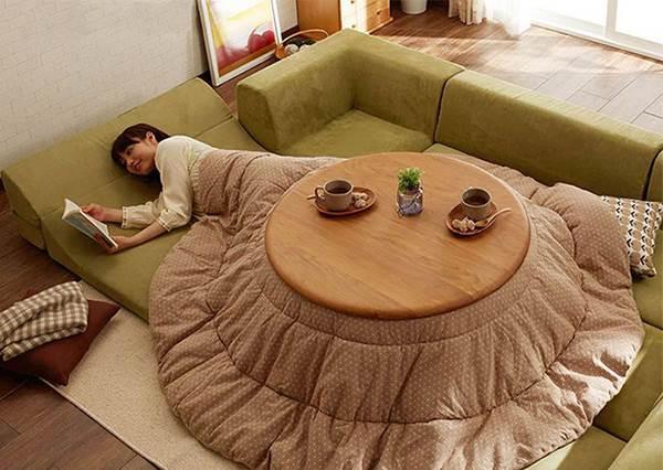 這項發明很需要發揚光大啊!小丸子卡通裡冬天取暖用的「日本暖桌」,你一定也需要