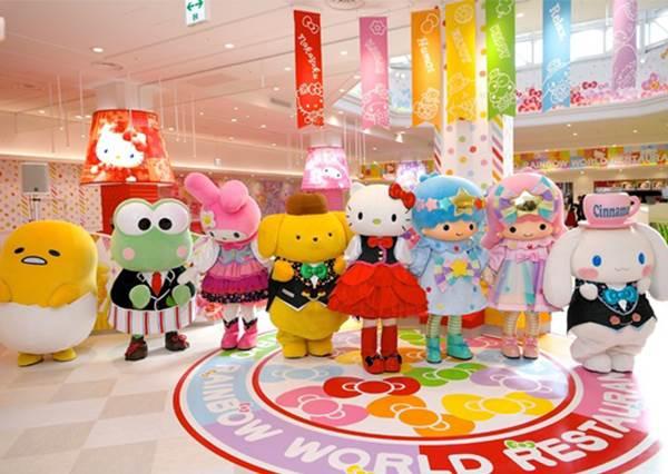 【日本三麗鷗卡通明星們的專屬餐廳!】好夢幻的用餐環境, 心情開心到忍不住會大吃大喝起來!