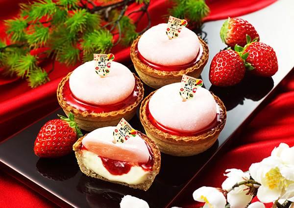 咬一口,果醬會流不停的「草苺大福起士塔」!PABLO限定款:粉色麻糬才是亮點