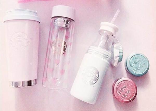 【韓國 Starbucks情人節推出粉紅全套系列商品!】粉紅色的誘惑,萌到不要不要!