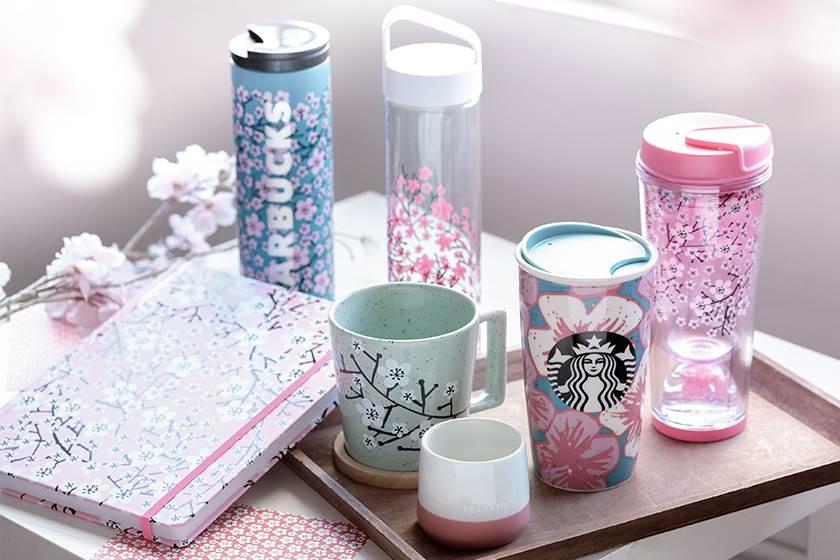 太心心眼了!只有香港Starbucks才出的櫻花商品,春日茶具真的是美翻了!