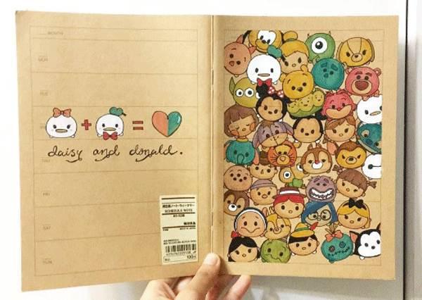蝦咪!這不是印上去的?超強《卡通手感繪畫筆記本》,可愛到根本可以放進迪士尼商店直接販售了啦!
