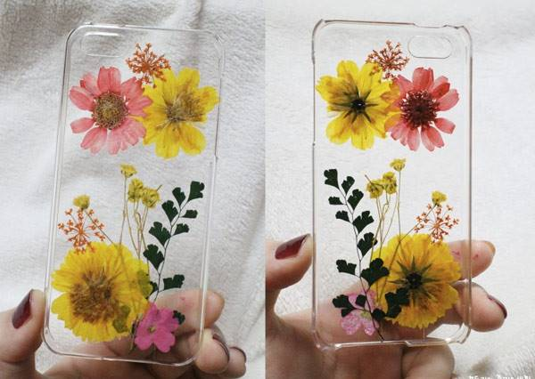 DIY小清新植物壓花手機殼 就是要跟人家與眾不同!