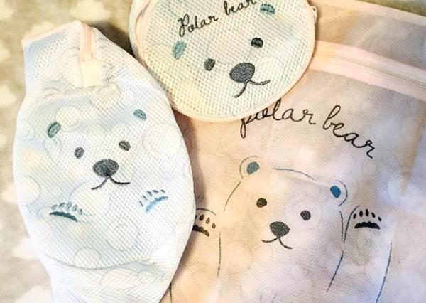 看完就會有洗衣服的動力,這麼神奇?日本便宜商店最新「白熊洗衣袋」:這樣分類好貼心!