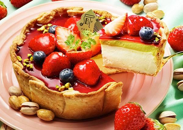 草莓醬+起司塔+烤棉花糖,這是什麼犯規組合啦!日本口味限定甜點,連外型也很少女