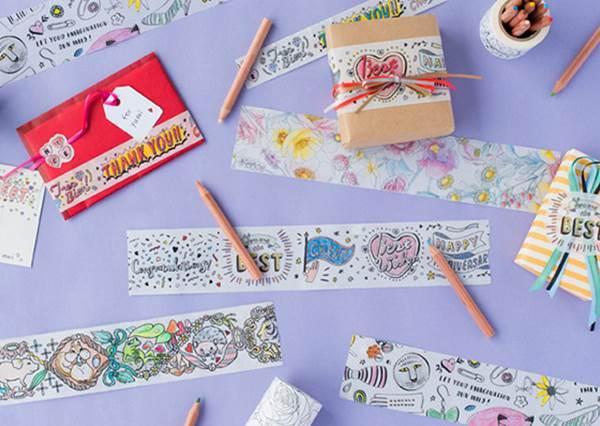 「填色紙膠帶」也太有有趣了吧?網友推薦的3款小物,日本果然是文具大國啊!