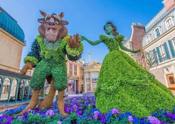 最強的園藝師就是你了!直接靠修剪樹葉讓花園變身迪士尼樂園,但貝兒怎麼有點像費歐娜?