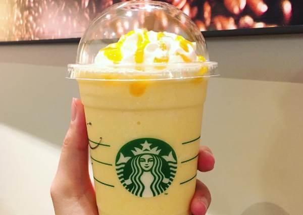 日本星巴克邪惡事蹟再+1!竟新推柑橘芒果星冰樂口味,重點果粒多到快滿出來啦!
