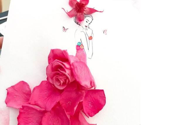 第2件是從貝兒衣櫃拿的吧?用花瓣打造天然豪華禮服,尤其TIFFANY藍玫瑰花甜蜜到蜜蜂要飛來啦