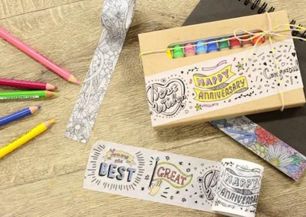 邊畫畫還能邊存錢?!讓你可以釋放壓力的3款「著色小物」:紙膠帶控絕不能錯過第1款
