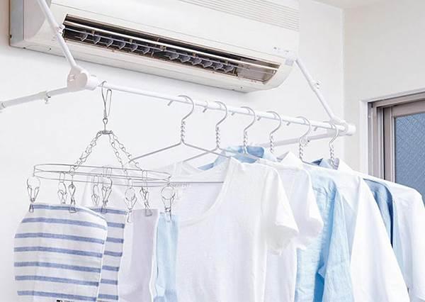 衣服曬不乾?沒地方晾衣服?不佔位又好收納的「折疊型室內曬衣桿」DIY教學!