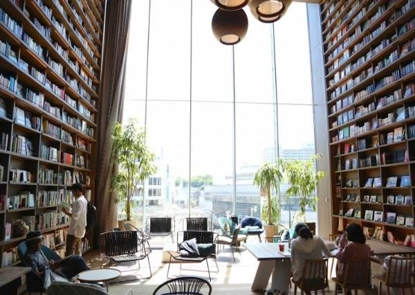 這是〈美女與野獸〉裡的圖書館吧!日本最有「書香氣」的星巴克,9公尺高書牆能不朝聖嗎?