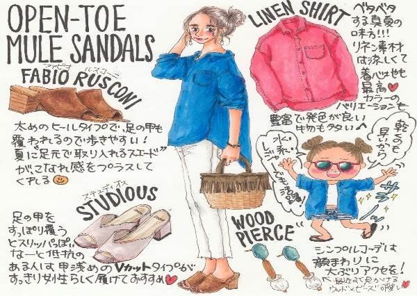 今年夏天一定要有一雙!日系「露趾涼鞋」2選:草編材質搭裙子氣質滿分!