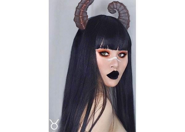 你知道金牛座最適合暗黑色號嗎?超強部落客畫出12星座仿妝,牡羊座根本就是害羞的小綿羊啊!