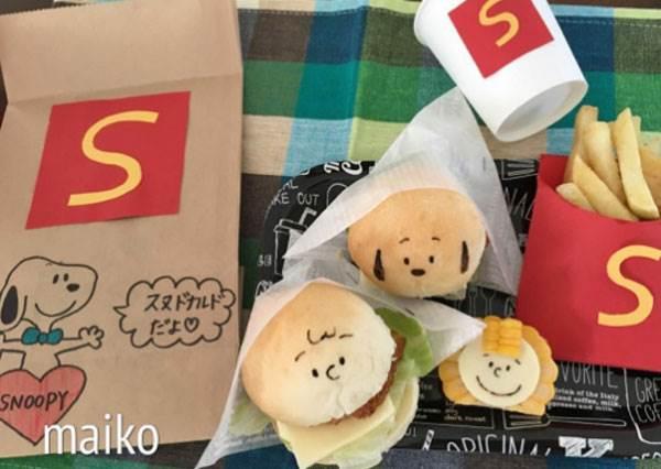 不說還以為史努比和麥當勞聯名了?日本媽媽超有心料理大公開,速食紙袋能不能大量販售啊!