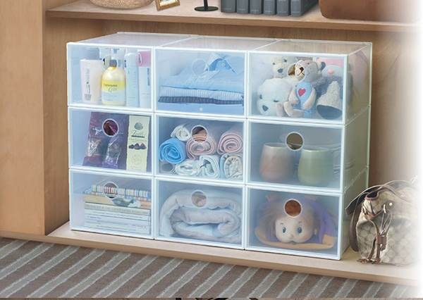 """房間櫃子太大佔空間?教你如何用""""收納盒""""讓雜物秒變整齊,東西還變超好找!"""