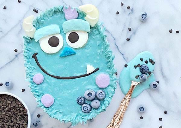 TIFFANY藍配上毛怪輕鬆占領少女的胃啊!超可愛圓滾滾卡通水果蛋糕,而且還都是用天然水果做成的!