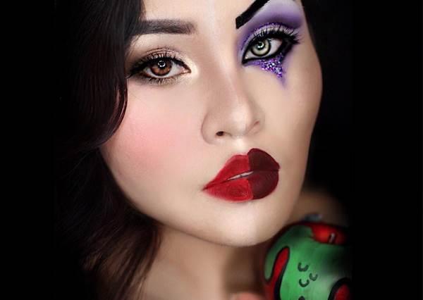 小美人魚一轉頭是烏蘇拉的臉?這是蝦咪情況!迪士尼公主V.S反派仿妝,睡美人這眼神…是被黑魔女帶壞了嗎?