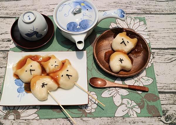 日本人氣食譜分享!利用日式甜醬油糰子做出療癒度動物糰子!