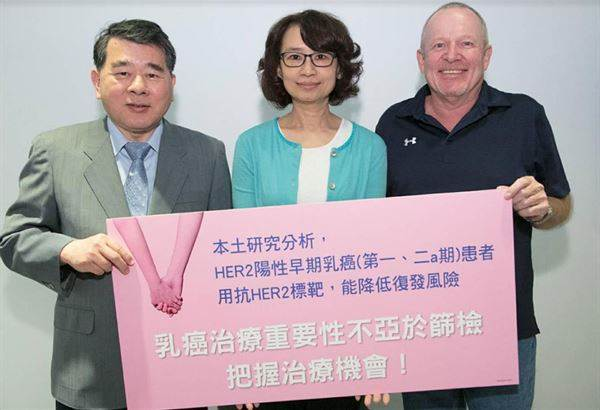 HER2陽性乳癌未轉移淋巴 標靶藥5年存活率百分百
