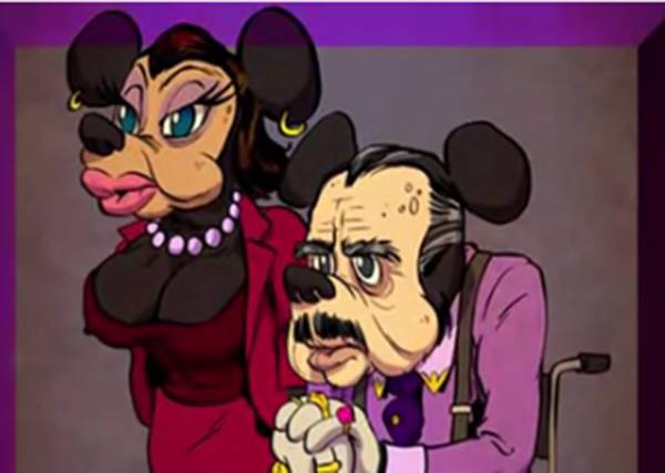 連米奇都坐輪椅!當那些卡通人物都老了以後,會是怎麼樣?