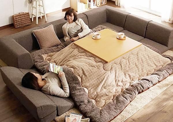 懶人必備神器再多一項!日式多功能暖桌要坐要躺的可以,有了這個誰還要回房間!