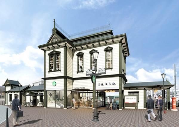 咖啡廳要搭船才能到你信嗎?日本星巴克全新分店開幕啦~坐在室內就能眺望無敵海景!